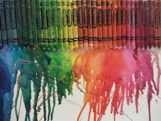 DIY Melted Crayon Canvas…