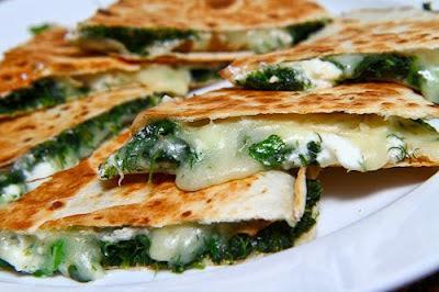 Spinach & Feta Quesadillas…